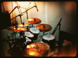 First Studio Recording Session on Drums
